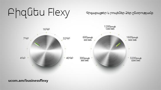 Корпоративные абоненты Ucom самостоятельно выберут вложения и стоимость тарифного плана Бизнес Flexy
