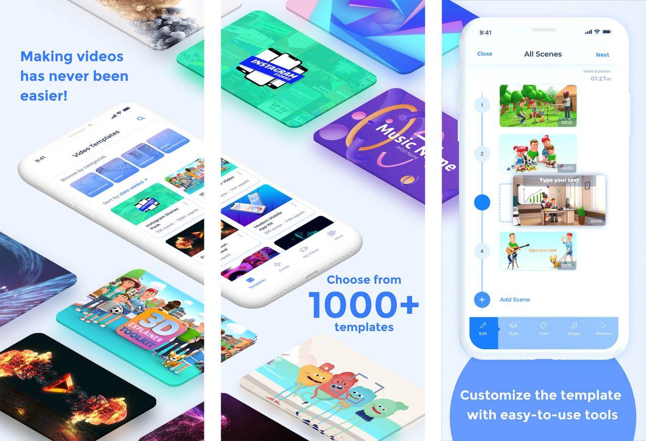 Создавайте видео телевизионного качества прямо на своем iPhone с помощью нового приложения Renderforest