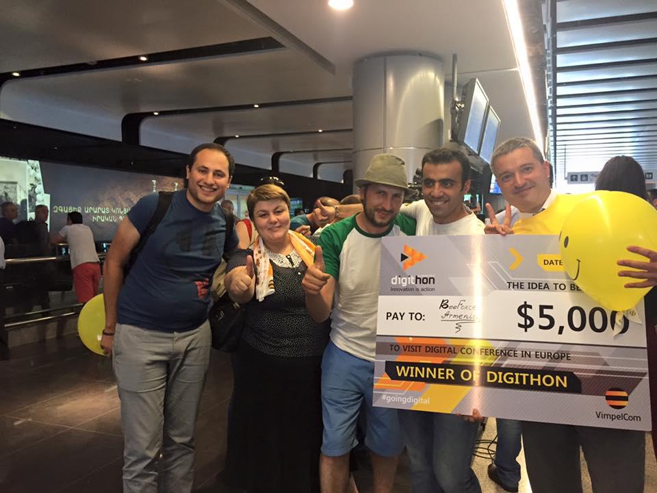 Команда сотрудников Beeline Армения победила в конкурсе инновационных идей Digithon-2016