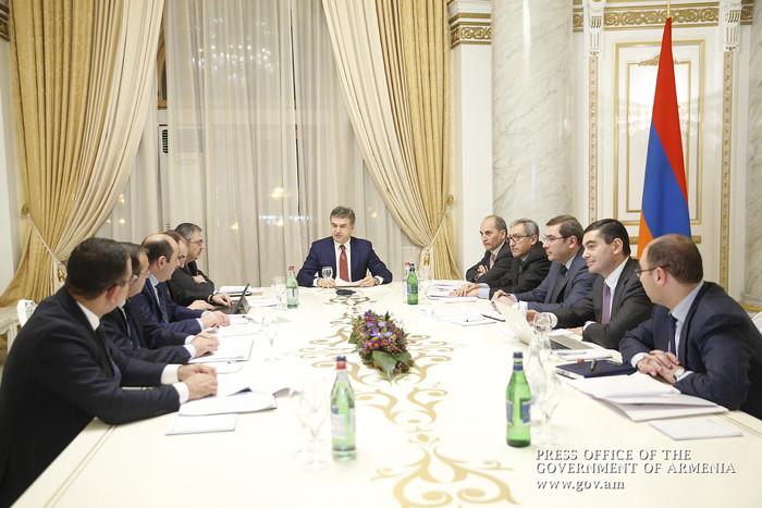 Под председательством Карена Карапетяна обсужден порядок выплаты роялти предприятиями горнодобывающей сферы