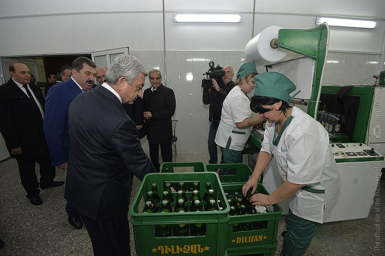 Президент отправился с рабочим визитом в Тавушский марз