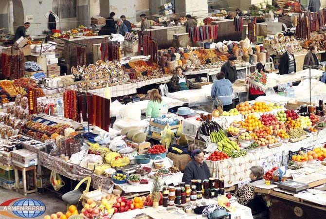 Индекс продовольственных товаров в Армении вырос на 1,7%