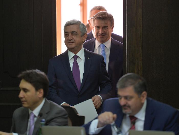 Серж Саргсян принял участие в заседании Правительства