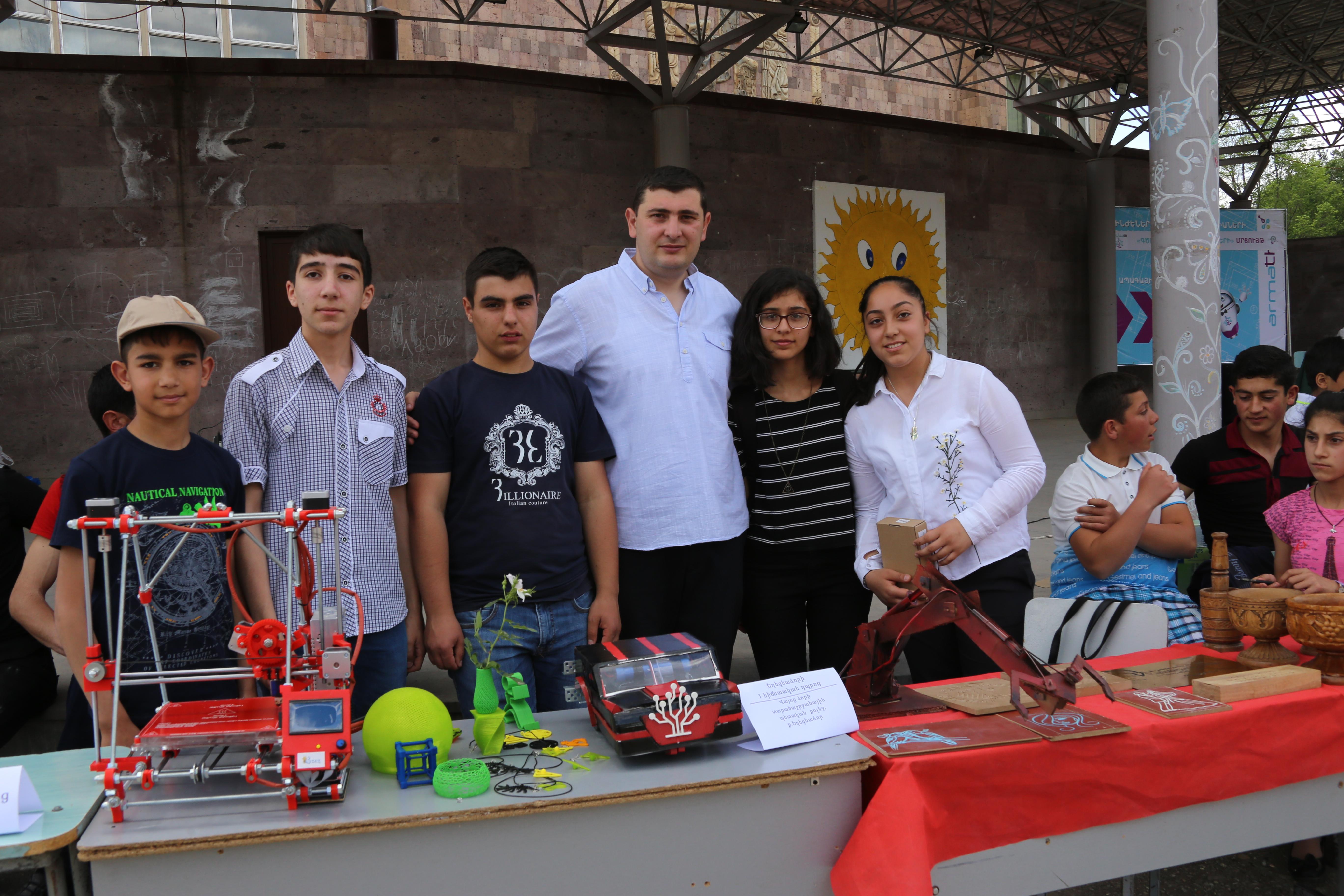Ucom. Ученики лабораторий «Армат» в Вайоц Дзоре продемонстрировали свои работы
