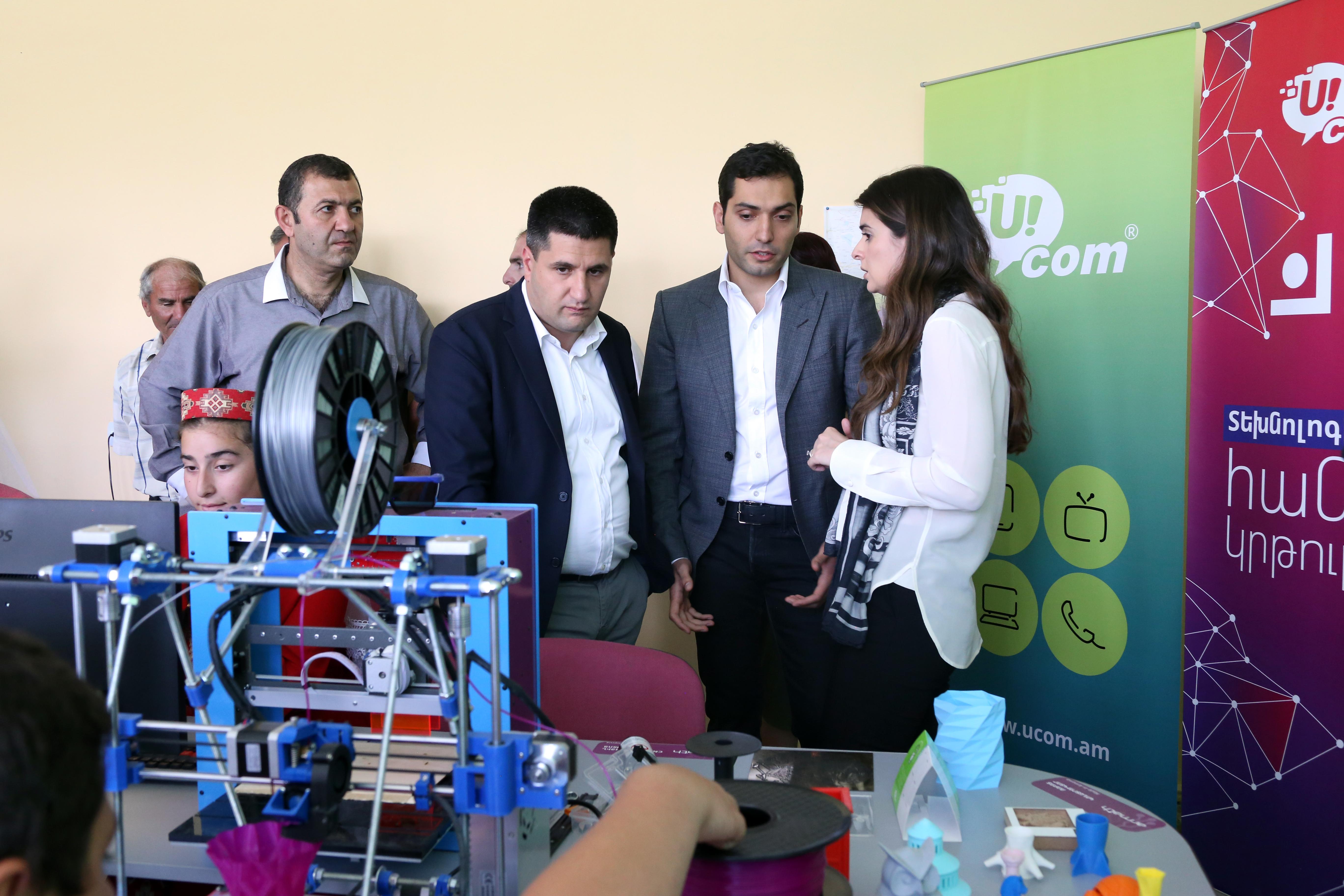 Благодаря сотрудничеству между компаниями Ucom и Teach for Armenia в школе Багарана будет действовать инженерная лаборатория «Армат»