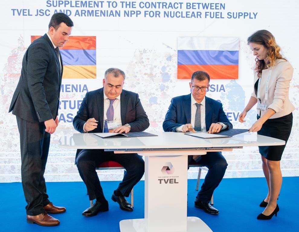 Топливная компания Росатома «ТВЭЛ» восполнит резерв ядерного топлива на Армянской АЭС