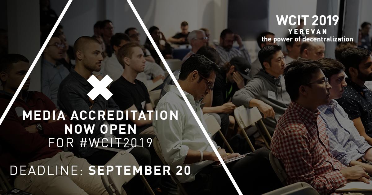Заявки на аккредитацию СМИ на WCIT 2019 можно подать онлайн до 20 сентября.
