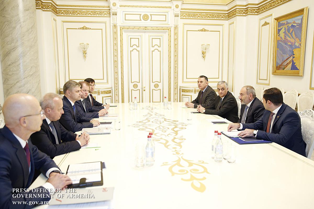 Վարչապետն ընդունել է «Ռուսական երկաթուղիներ» ԲԲԸ գլխավոր տնօրենին