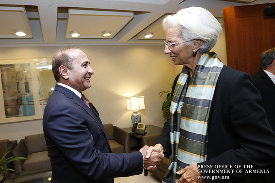 Հովիկ Աբրահամյանը հանդիպել է ԱՄՀ տնօրեն Քրիստին Լագարդի հետ