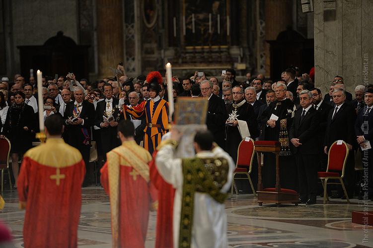 Նախագահը Վատիկանում մասնակցել է Նորին Սրբություն Հռոմի Պապ Ֆրանցիսկոսի կողմից մատուցված պատարագին