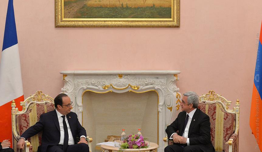 Սերժ Սարգսյանը հանդիպում է ունեցել Ֆրանսիայի Նախագահ Ֆրանսուա Օլանդի հետ