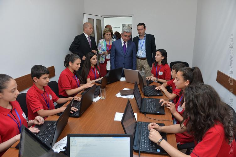 Նախագահ Սարգսյանը ներկա է գտնվել «Վիքիմեդիա Հայաստան» գրասենյակի բացմանը