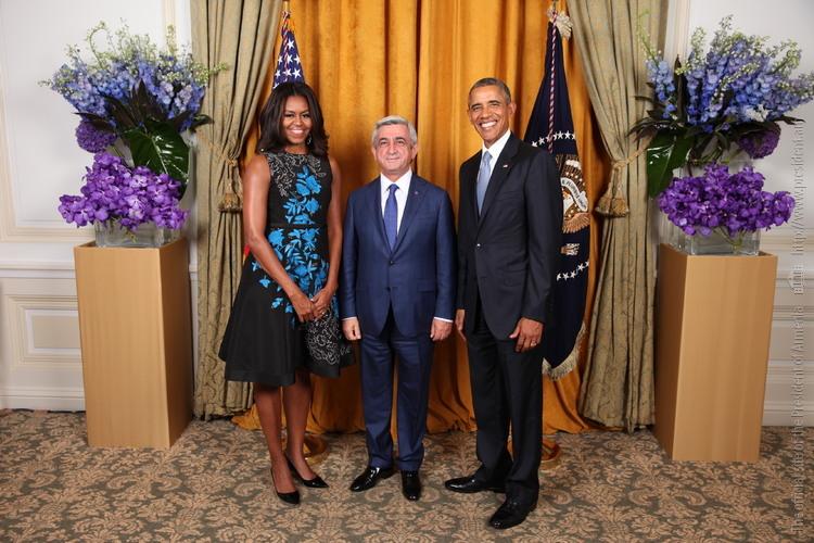 Նախագահ Սարգսյանը հանդիպել է Բարաք Օբամայի հետ