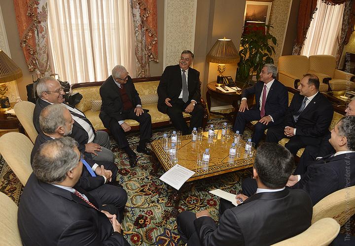Նախագահ Սարգսյանը ԱՄՆ-ում հանդիպումներ է ունեցել հայկական կազմակերպությունների եվ համայնքի ներկայացուցիչների հետ