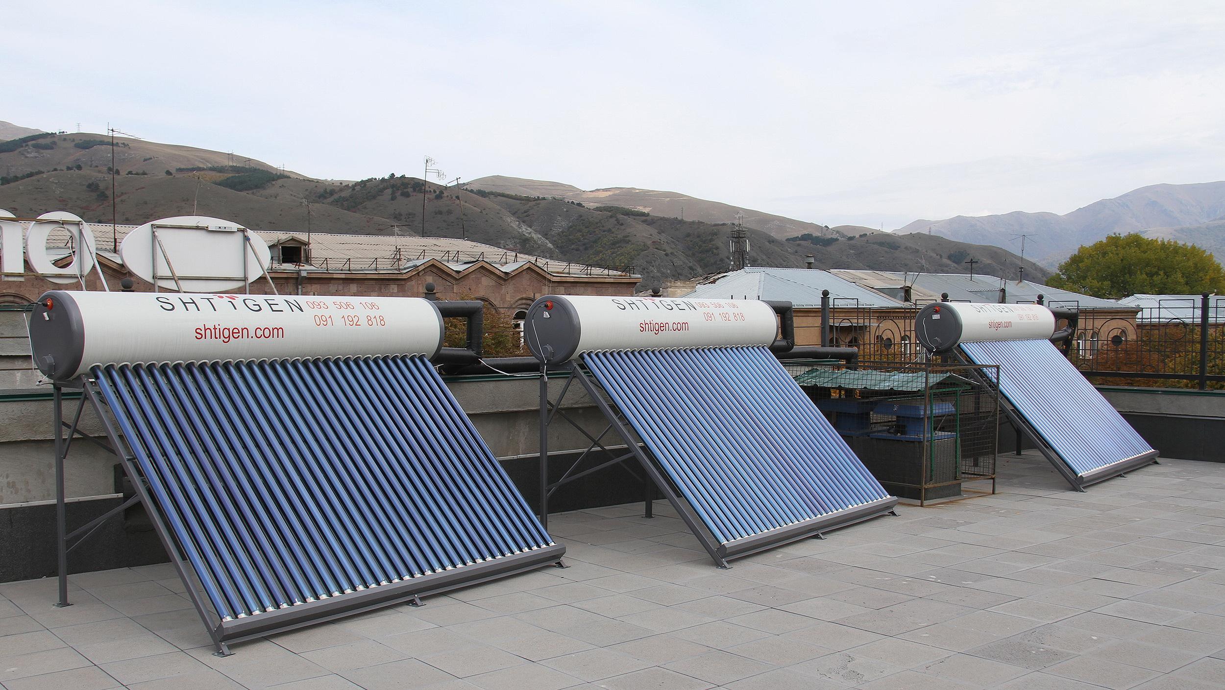 ԱԿԲԱ-ԿՐԵԴԻՏ ԱԳՐԻԿՈԼ ԲԱՆԿ. արևային ջրատաքացուցիչներ՝ Օրրանի Վանաձորի մասնաճյուղի համար
