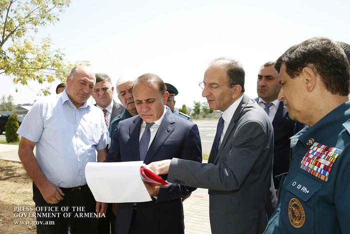 Հովիկ Աբրահամյանին է ներկայացվել ԱԻՆ նոր մասնաշենքի վերակառուցման աշխատանքների ընթացքը