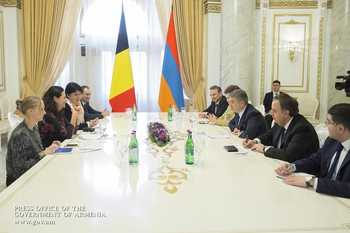 Կարեն Կարապետյանն ընդունել է Բելգիայի Սենատի նախագահին