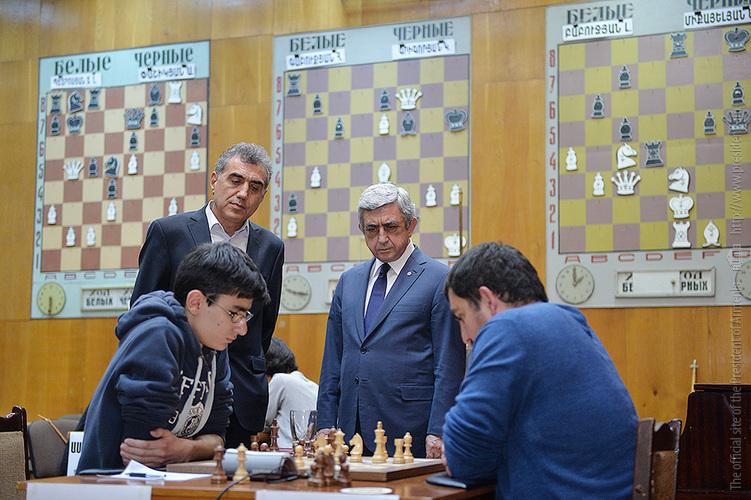 Նախագահ Սերժ Սարգսյանը հետևել է շախմատի Հայաստանի առաջնության ընթացքին
