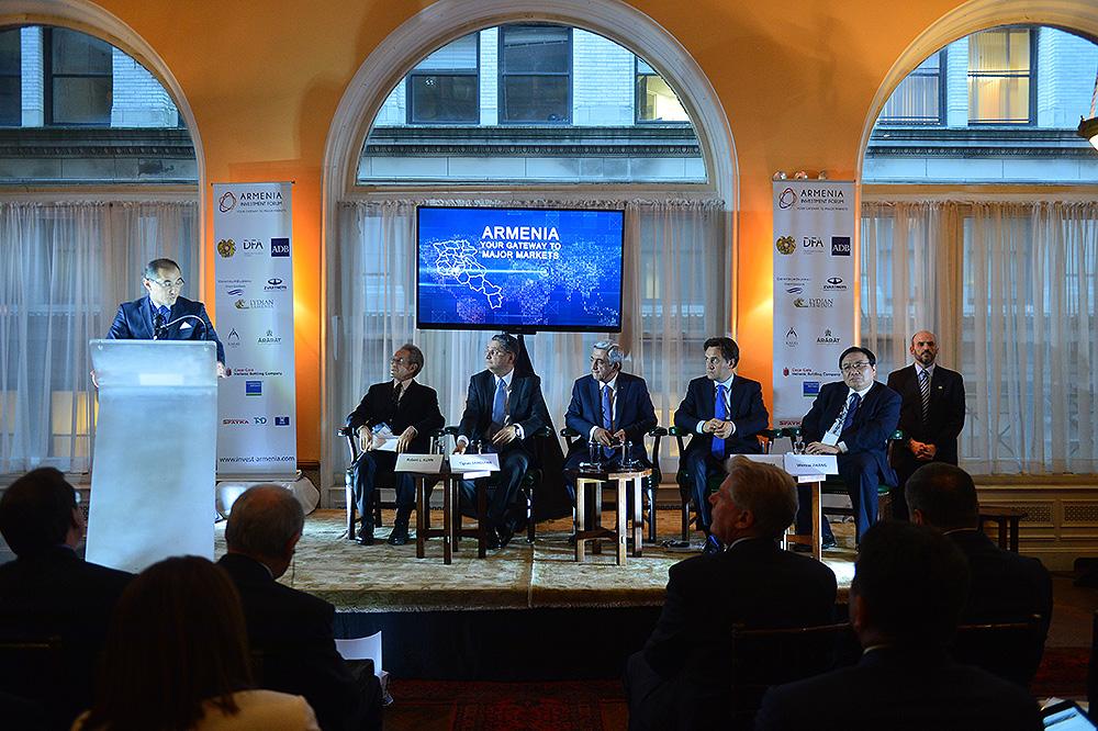 Սերժ Սարգսյանը Նյու Յորքում մասնակցել է «Հայաստան. ներդրումային համաժողով 2016»-ին