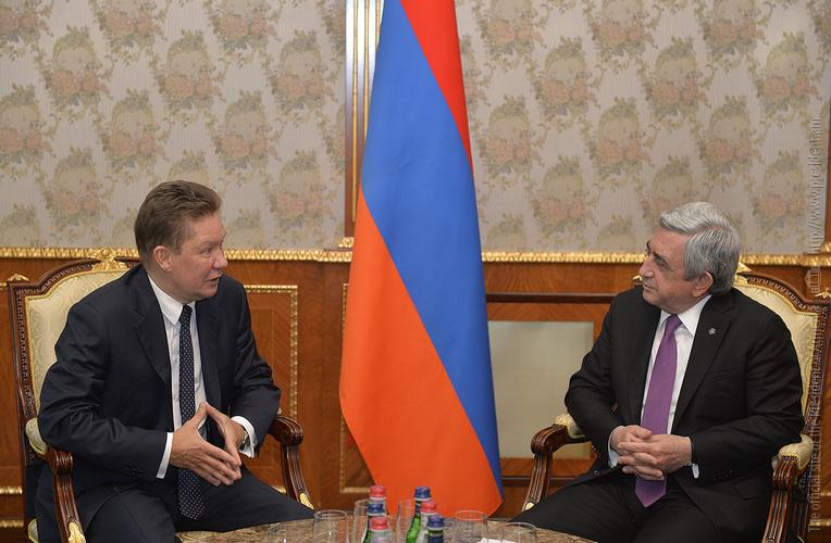 Սերժ Սարգսյանն ընդունել է Գազպրոմի նախագահ Ալեքսեյ Միլլերին