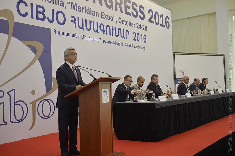Սերժ Սարգսյանը մասնակցել է Ոսկերիչների համաշխարհային համադաշնության համաժողովին