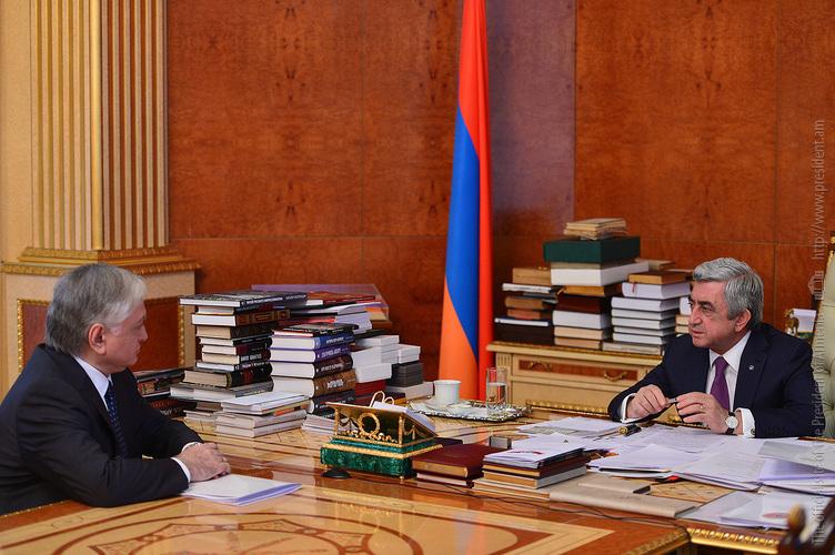 Էդվարդ Նալբանդյանը Սերժ Սարգսյանին զեկուցել է առաջիկայում միջազգային կազմակերպություններում Հայաստանի ներգրավվածության ուղղությամբ աշխատանքների մասին