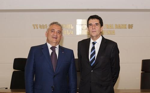 Կենտրոնական բանկ. հանդիպել են Արթուր Ջավադյանը և Արգենտինայի ազգային բանկի նախագահ Կառլոս Մելքոնյանը
