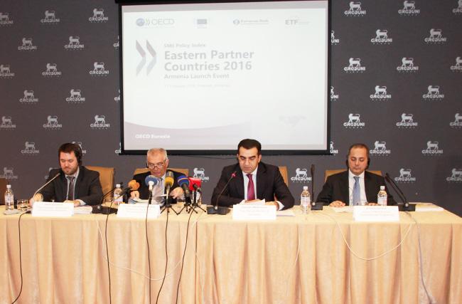 Ներկայացվել է «ՓՄՁ քաղաքականության ինդեքս. Արևելյան գործընկեր երկրներ 2016» զեկույցը
