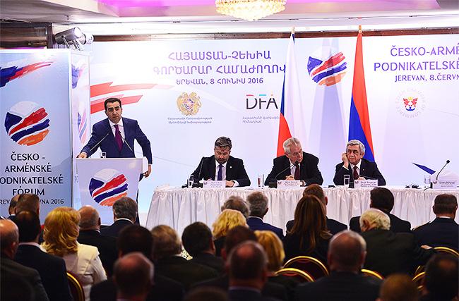 Տեղի է ունեցել հայ-չեխական գործարար համաժողովը