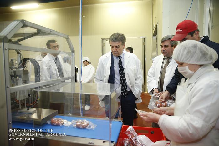 Կարեն Կարապետյանն այցելել է «Նատֆուդ» մսամթերքի վերամշակման ընկերություն