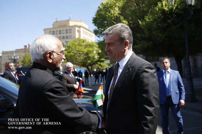 Կարեն Կարապետյանն ընդունել է Հնդկաստանի փոխնախագահ Մ. Համիդ Անսարիի գլխավորած կառավարական պատվիրակությանը