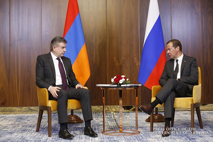 Կարեն Կարապետյանը և Դմիտրի Մեդվեդևը քննարկել են հայ-ռուսական համագործակցության օրակարգի հարցեր