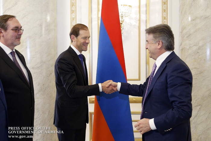 Կարեն Կարապետյանն ընդունել է ՌԴ արդյունաբերության և առևտրի նախարարի գլխավորած պատվիրակությանը