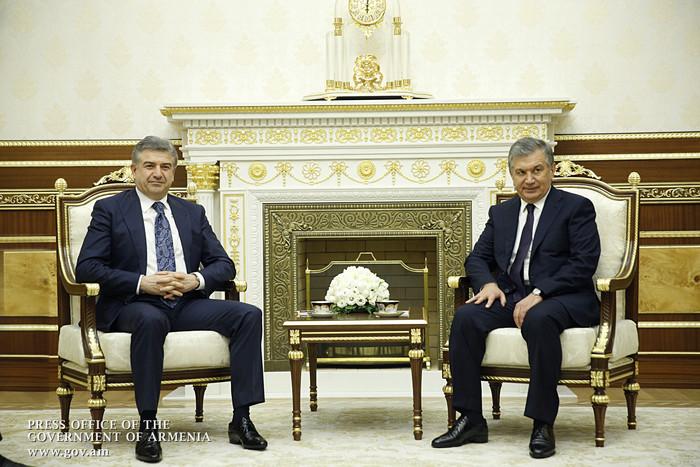 Կարեն Կարապետյանը հանդիպել է Ուզբեկստանի նախագահի հետ