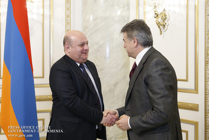 Կարեն Կարապետյանն ընդունել է Վրաստանի մրցակցային գործակալության նախագահին