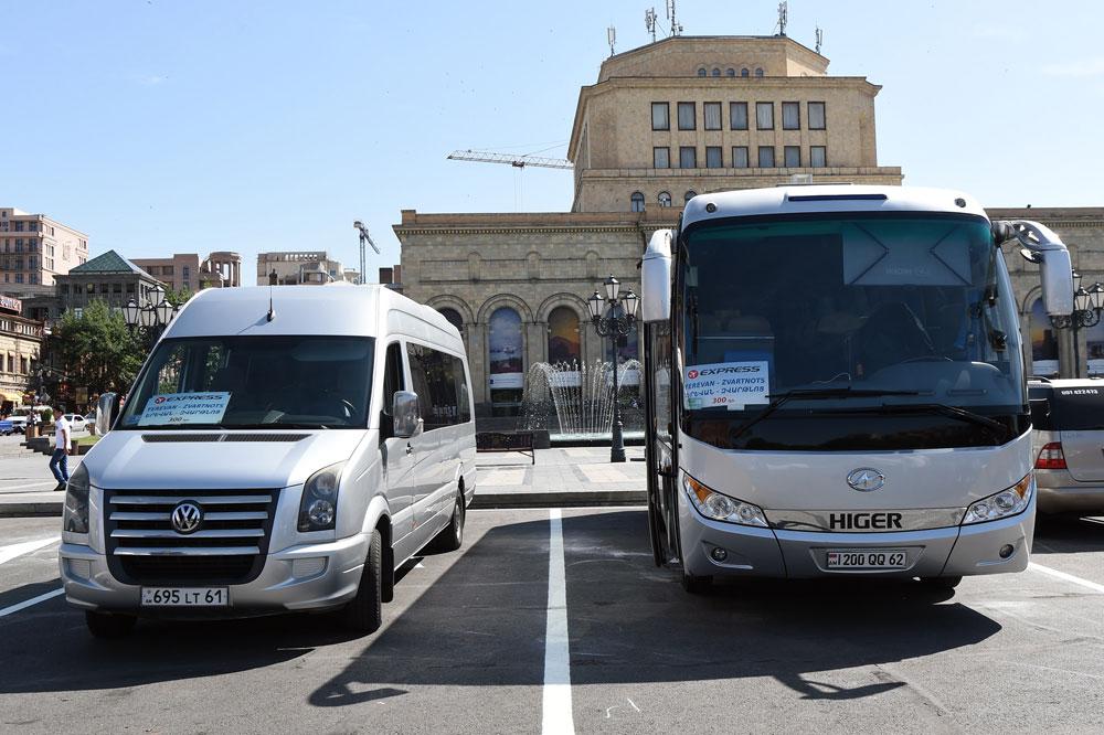 Երևան - «Զվարթնոց» օդանավակայան փորձնական երթուղին անչափ հարմար և մատչելի է