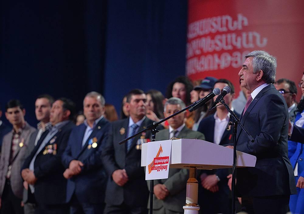 Սերժ Սարգսյանի խոսքը ՀՀԿ նախընտրական քարոզարշավի ամփոփման միջոցառմանը