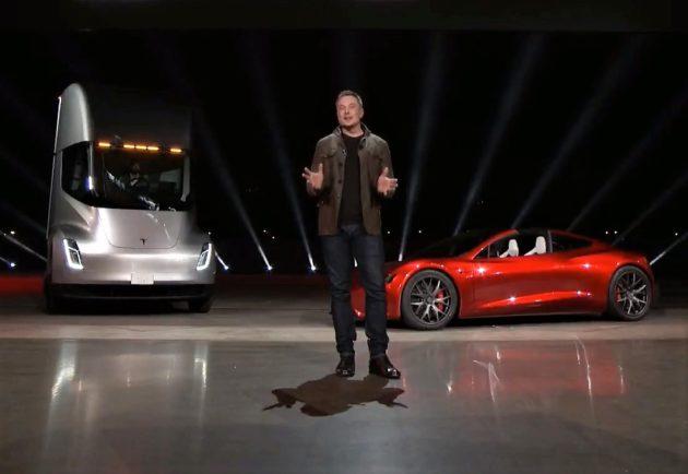 Tesla-ն էլեկտրական բեռնատար և ռոդսթեր է ցուցադրել
