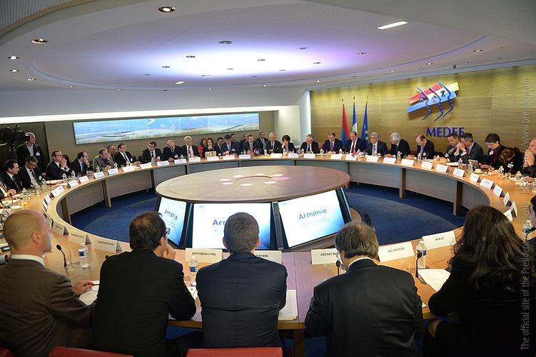 Ֆրանսիացի գործարարներին են ներկայացվել Հայաստանում ներդրումներ կատարելու հնարավորությունները