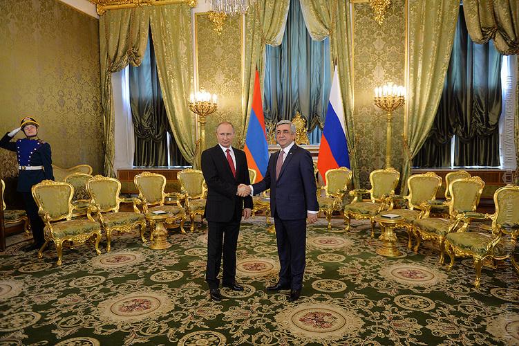 Մոսկվայում հանդիպել են Սերժ Սարգսյանը և Վլադիմիր Պուտինը