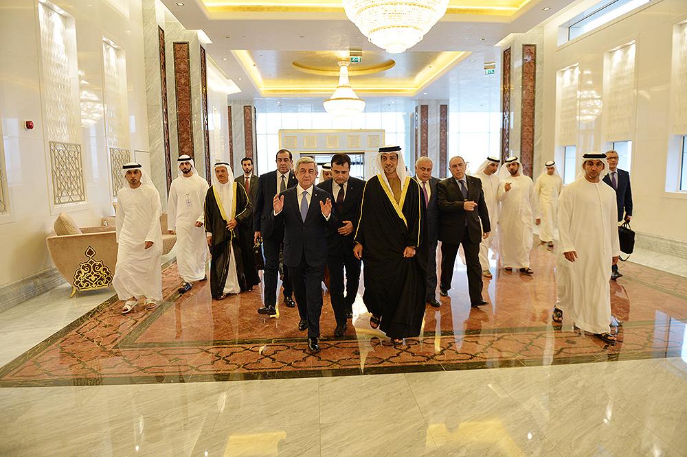 Սերժ Սարգսյանը աշխատանքային այցով ժամանել է Արաբական Միացյալ Էմիրություններ