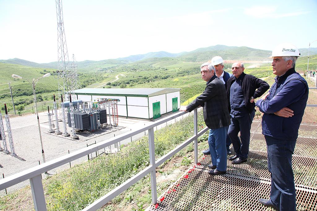 Սերժ Սարգսյանը և Բակո Սահակյանն այցելել են Մարտակերտի Կաշենի լեռնահանքային համալիր