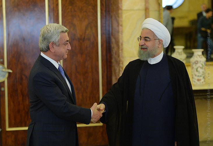 Նախագահ Սերժ Սարգսյանը հանդիպում է ունեցել Իրանի նախագահ Հասան Ռոհանիի հետ