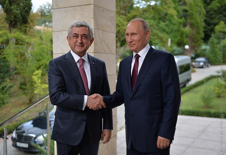 Սոչիում հանդիպել են Սերժ Սարգսյանն ու Վլադիմիր Պուտինը