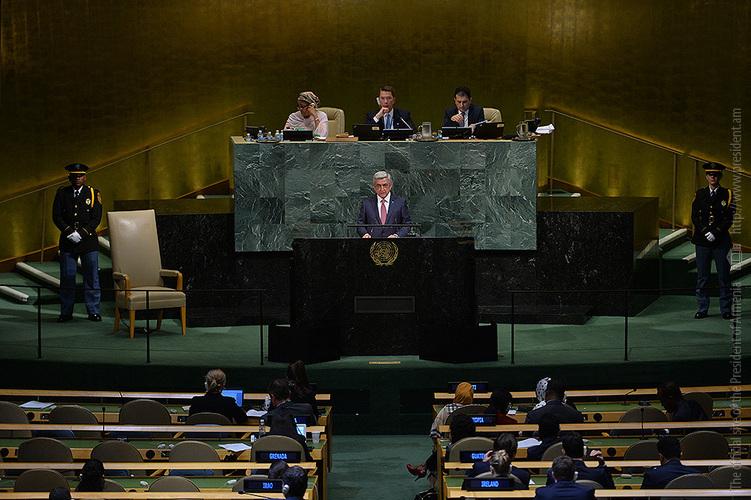 Սերժ Սարգսյանի ելույթը ՄԱԿ-ի Գլխավոր ասամբլեայի 72-րդ նստաշրջանին