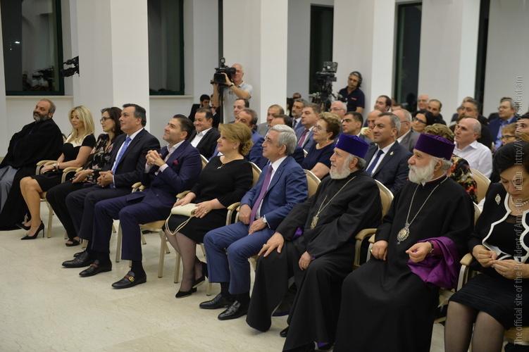 Նախագահը ներկա է գտնվել «Հայկական ազգային երաժշտական գանձարան» ծրագրի շնորհանդեսին