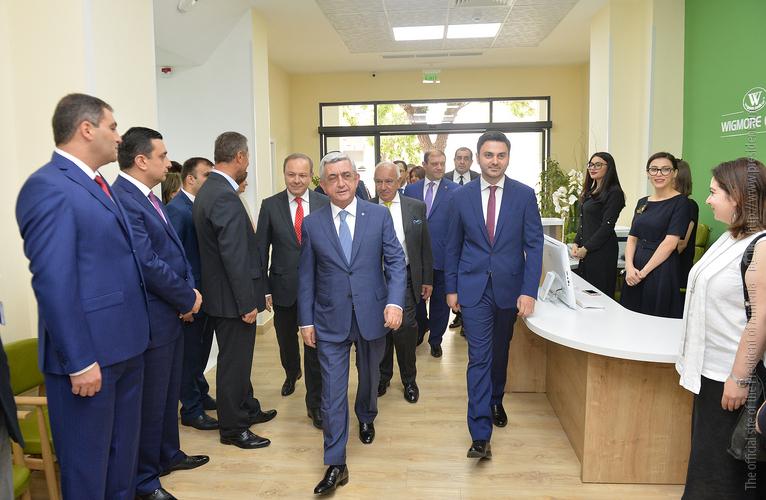 Սերժ Սարգսյանն այցելել է նորաբաց «Ուիգմոր Քլինիք» բժշկական կենտրոն