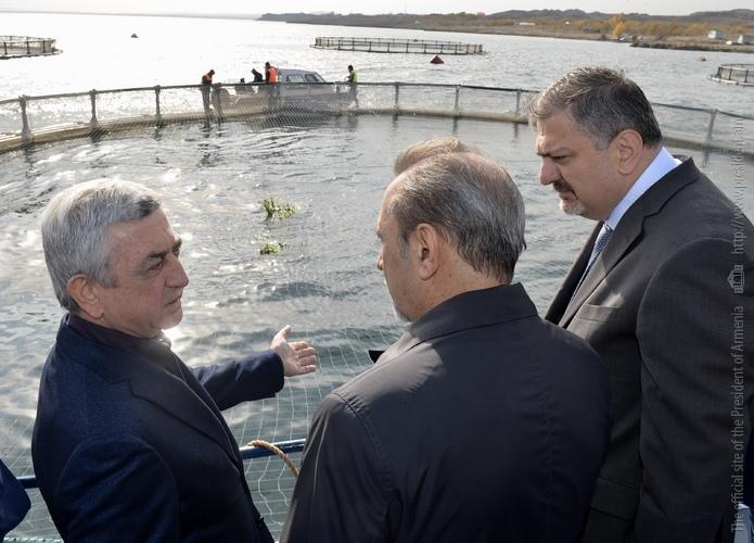 Նախագահ Սարգսյանը ծանոթացել է «Սևանա լճում իշխանի պաշարների վերականգնման և ձկնաբուծության զարգացման համալիր ծրագրի» շրջանակներում իրականացվող աշխատանքներ