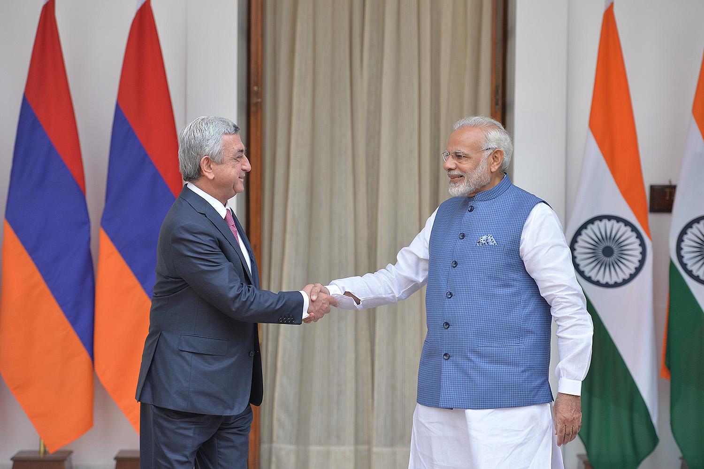Նախագահ Սերժ Սարգսյանը հանդիպում է ունեցել Հնդկաստանի վարչապետ Նարենդրա Մոդիի հետ