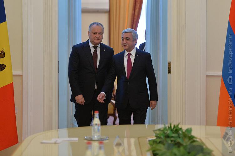 Նախագահի նստավայրում կայացել են հայ-մոլդովական բարձր մակարդակի բանակցություններ